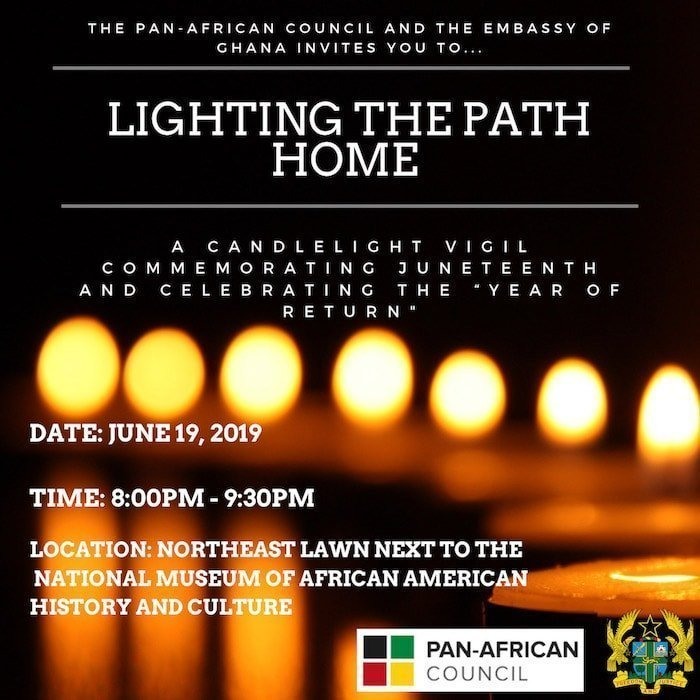 Ghana Embassy Candlelight Vigil, Lighting the Path Home - Year of Return