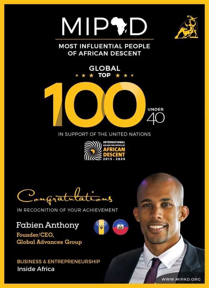 Most Influential People of African Descent Fabien Anthony